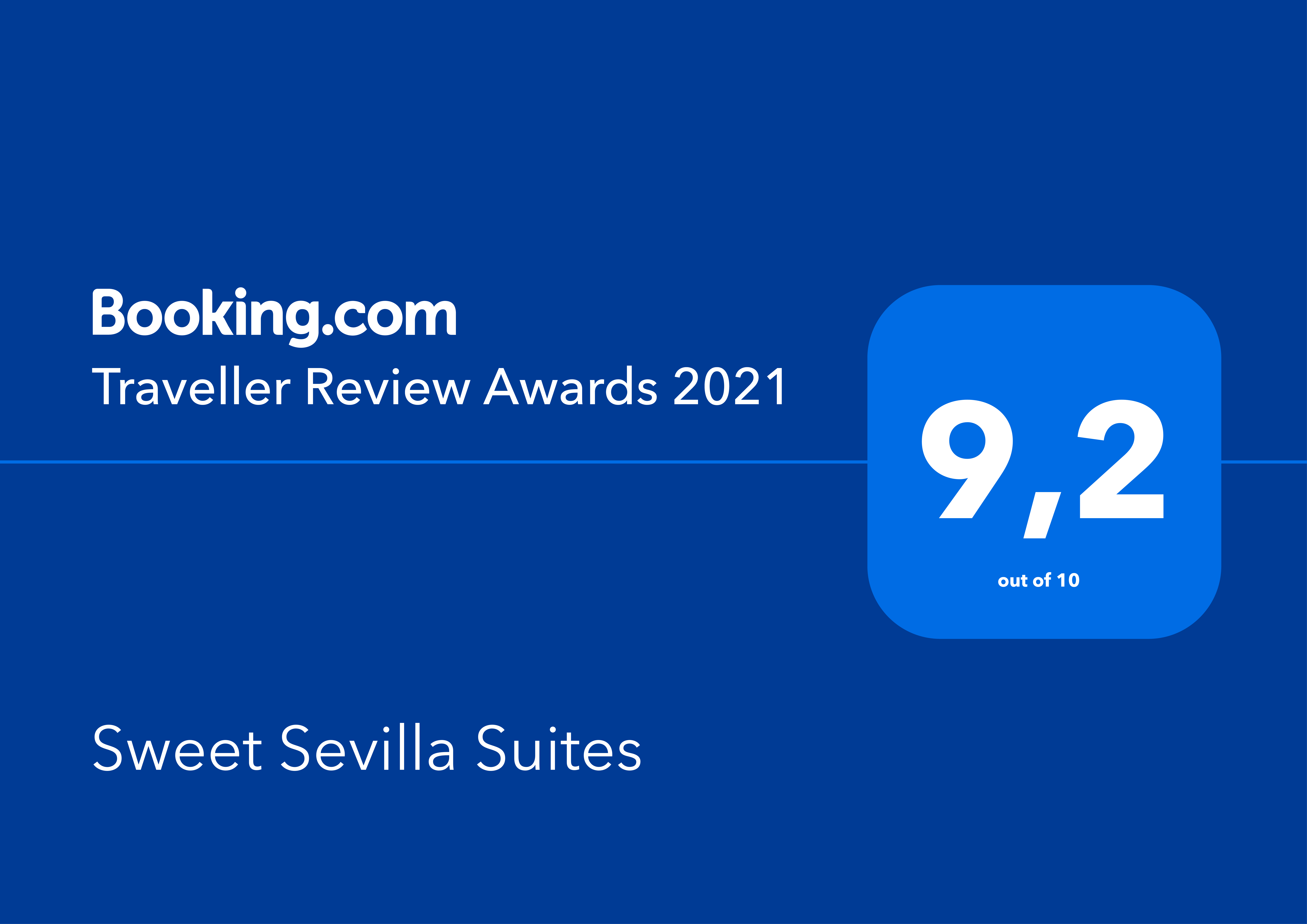 booking awards Sweet Sevilla Suites