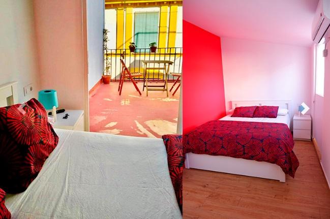 Habitación Doble con terraza. Sweet Sevilla Hostel